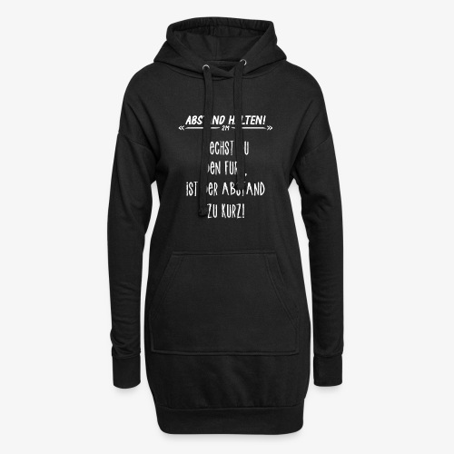 Abstand Halten Witzig - Hoodie-Kleid
