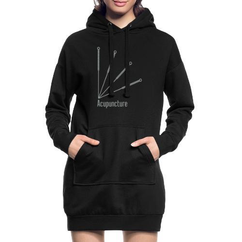 Acupuncture Eventail vect - Sweat-shirt à capuche long Femme