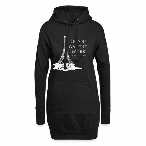 Paris dream work - Sweat-shirt à capuche long Femme