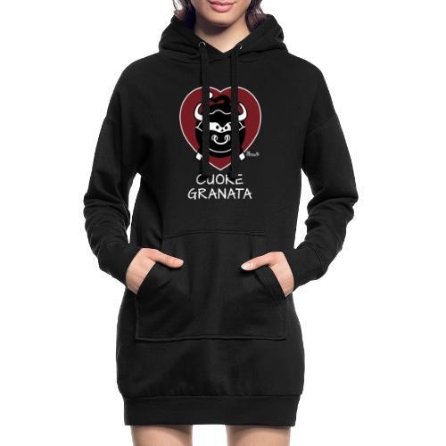 Torino Cuore Granata, Football Club, Calcio Italia - Sweat-shirt à capuche long Femme