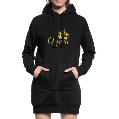 Queen Or -by- T-shirt chic et choc - Sweat-shirt à capuche long Femme