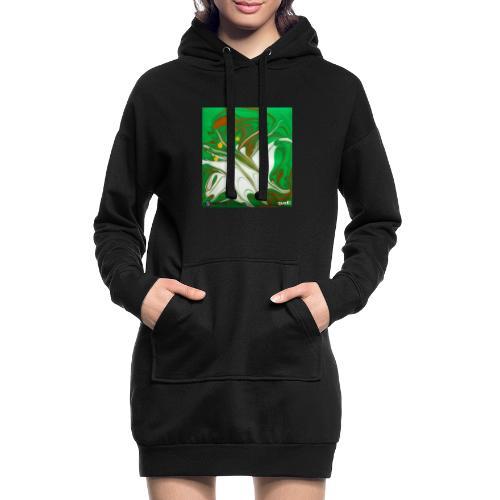 TIAN GREEN Mosaik CG002 - quaKI - Hoodie-Kleid