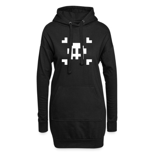 Pixel Skull - Sweat-shirt à capuche long Femme