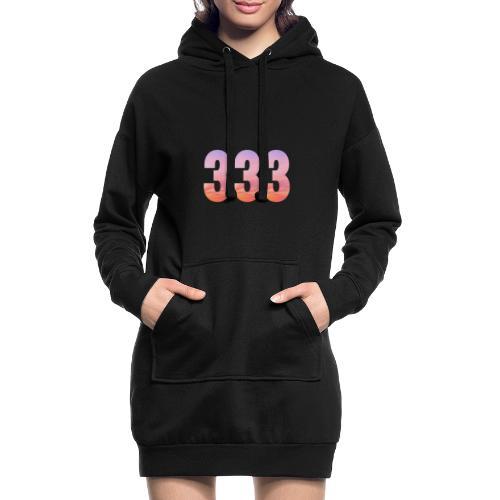 333 vous étes entouré de maitres ascensionnés - Sweat-shirt à capuche long Femme