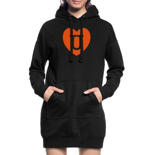 LOVE- U Heart - Hoodie Dress