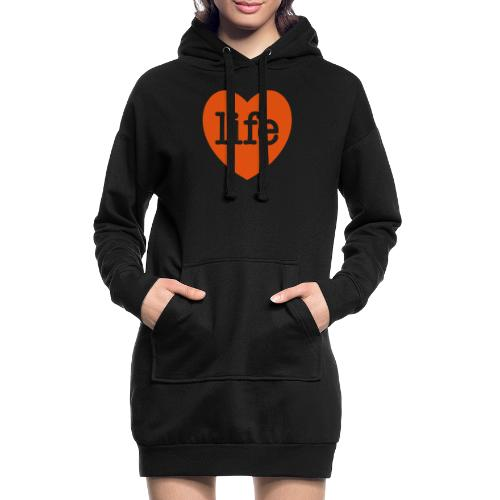 LOVE LIFE heart - Hoodie Dress