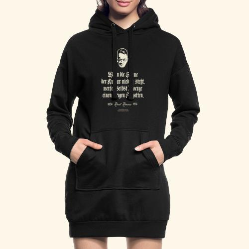 T-Shirt Zitat Karl Kraus über Kultur - Hoodie-Kleid