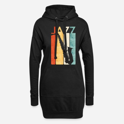 Jazz Saxophon Retro - Hoodie-Kleid