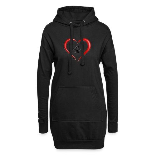 Shirt Herz auf vier Beinen - Hoodie-Kleid
