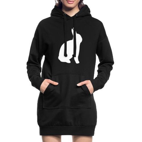 T-shirt personnalisable avec votre texte (lapin) - Sweat-shirt à capuche long Femme