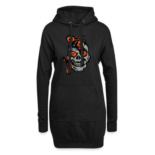 tete mort moto motrocycle oeil skull - Sweat-shirt à capuche long Femme