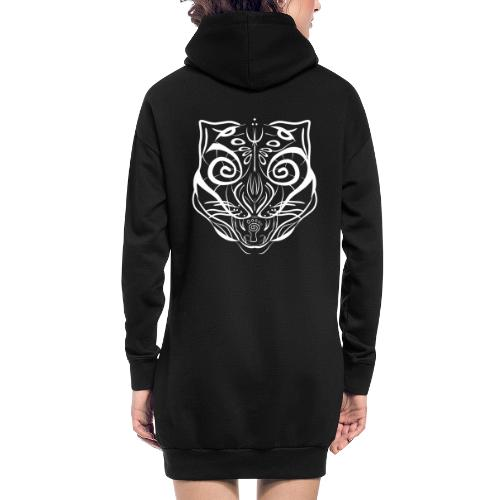 The Parvati Cat by Stringhedelic - White - Hoodie Dress