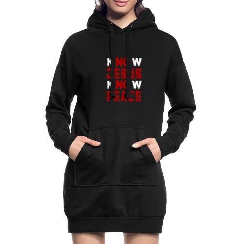 Know Jesus Know Peace (Flower Design) - Hoodie-Kleid