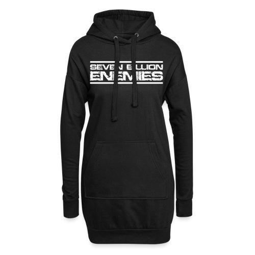 Seven Billion Enemies - BLANC - Sweat-shirt à capuche long Femme