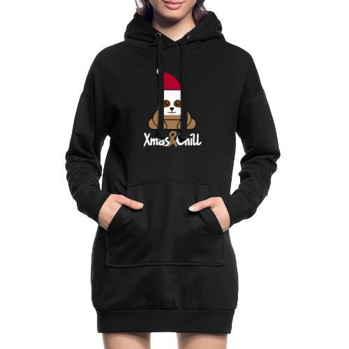 Faultier Weihnachten süß lustig Geschenk - Hoodie-Kleid