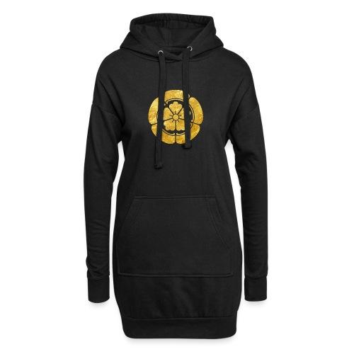 Oda Mon Japanese samurai clan faux gold on black - Hoodie Dress
