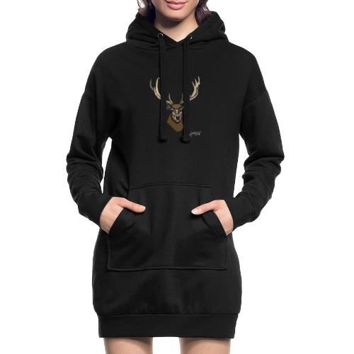 cerf-spread - Sweat-shirt à capuche long Femme