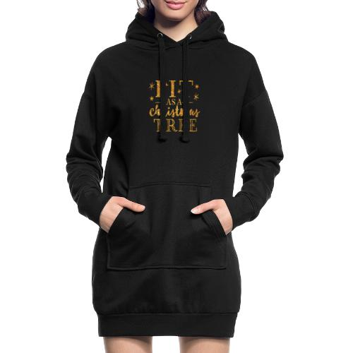 Funny Christmas Quote - Hoodie Dress