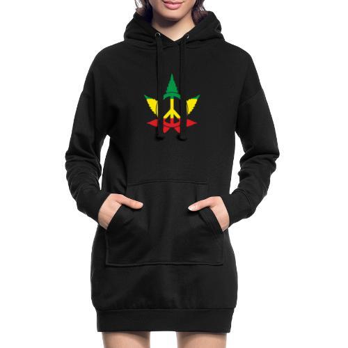 Peace färbig - Hoodie-Kleid