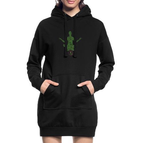 Meditation Good Vibes Green - Sweat-shirt à capuche long Femme