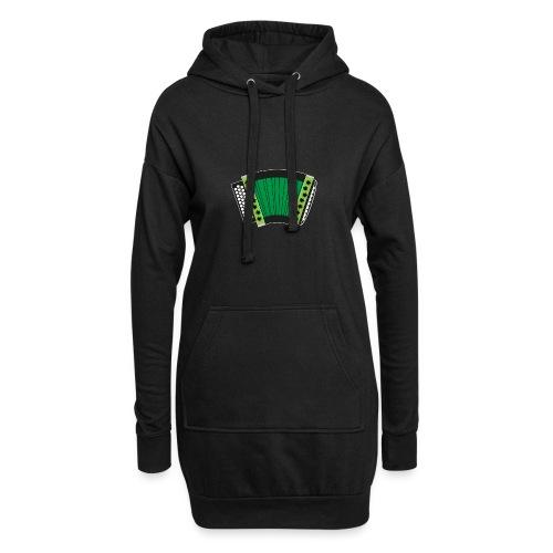 Schwyzerörgeli grün schwarzer Hintergrund - Hoodie-Kleid