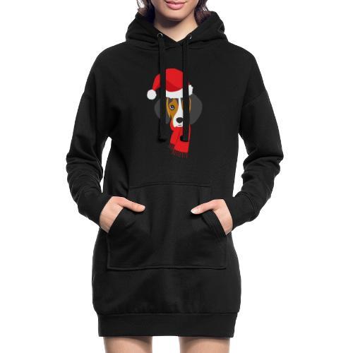 Cachorro de beagle vestido de Papa Noel - Sudadera vestido con capucha