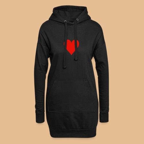 Coeur - Sweat-shirt à capuche long Femme