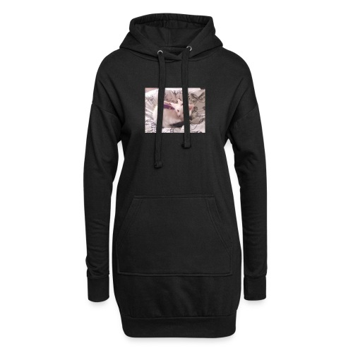 CAT SURROUNDED BY MICE AND BUTTERFLIES. - Hoodie Dress