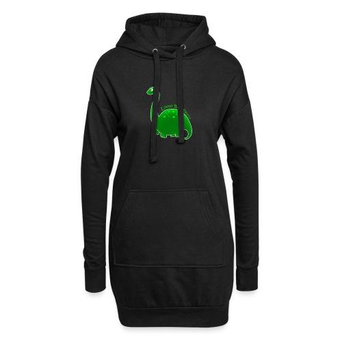 Green Little Baby Saurus - Hoodie Dress