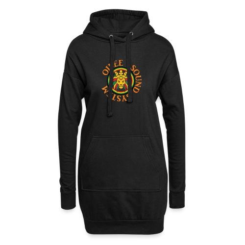 logo oilee sound - Sweat-shirt à capuche long Femme
