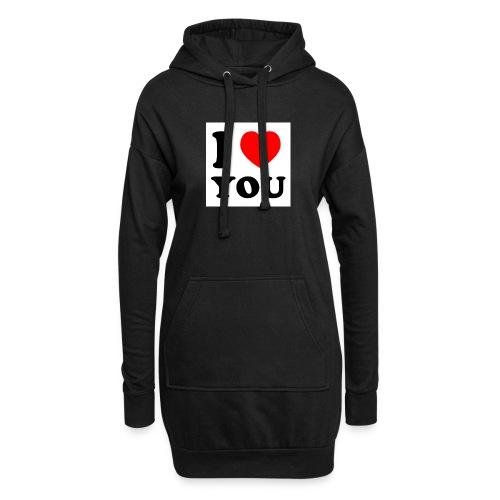Sweater met i love you - Hoodiejurk