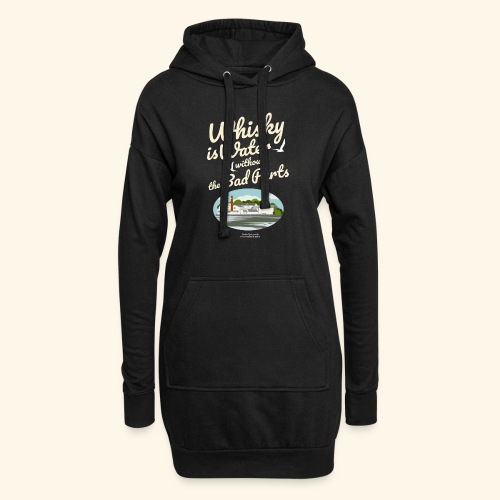 Whisky T Shirt Design Whisky Is Water - Hoodie-Kleid