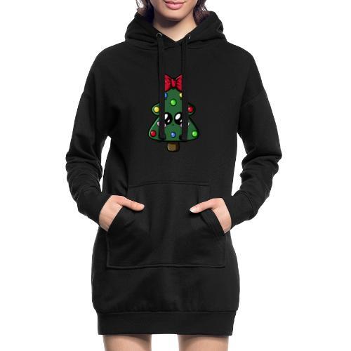 Sapin de Noël Kawaii ! - Sweat-shirt à capuche long Femme