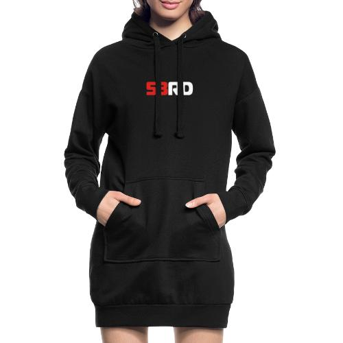 53RD Logo lang (weiss-rot) - Hoodie-Kleid