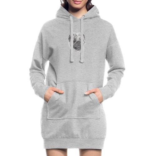 Pug mops 2 - Hoodie-kjole