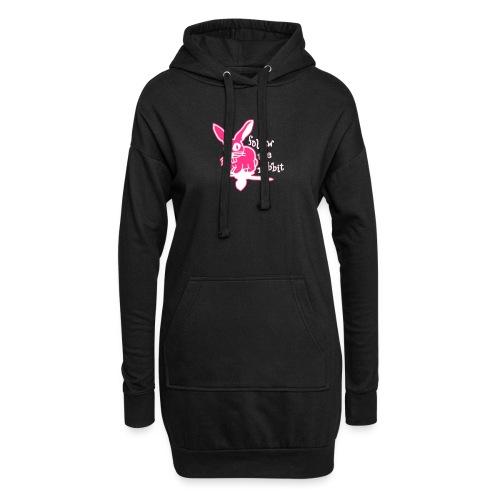 follow the rabbit - Hoodie-Kleid
