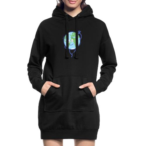 Nice planet Earth rotating graciously - Hoodie Dress