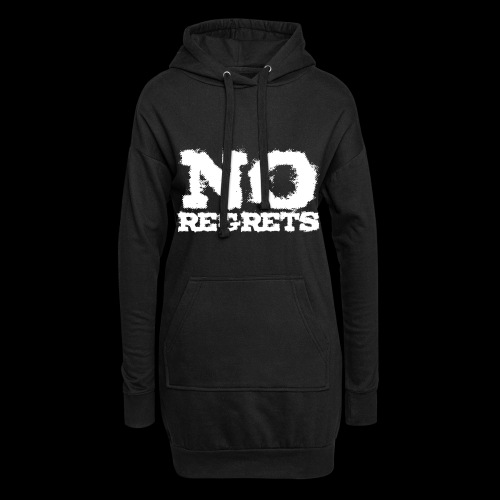 NO REGRETS Transparent - Hoodie-Kleid