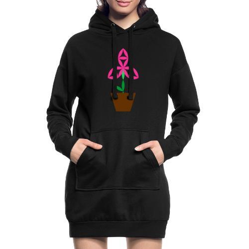 The Flower Of Life - Sacred Plants. - Hoodie Dress