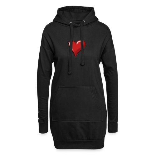 Love (coeur) - Sweat-shirt à capuche long Femme