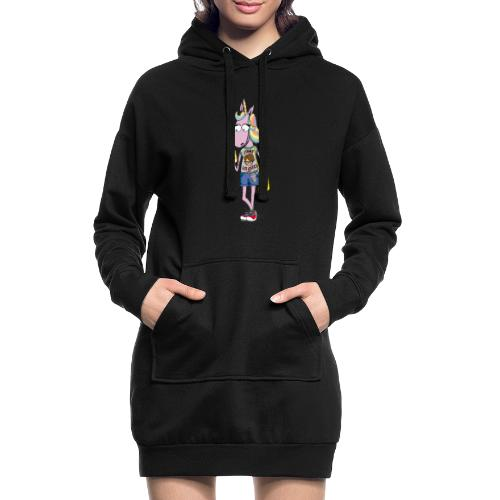 Licorne & Geek - Sweat-shirt à capuche long Femme