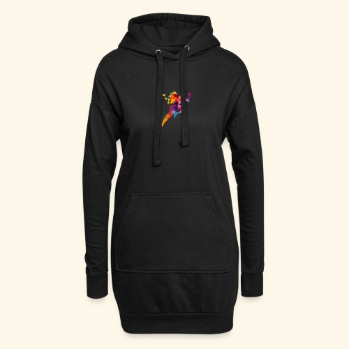 Running colores - Sudadera vestido con capucha