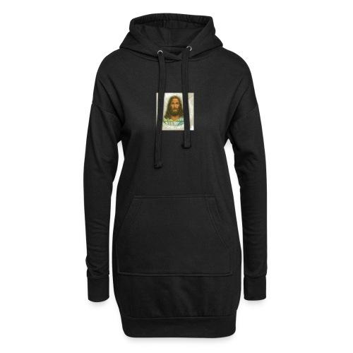 ROSTRO DE JESUS CON CODIGOS SAGRADOS - Sudadera vestido con capucha