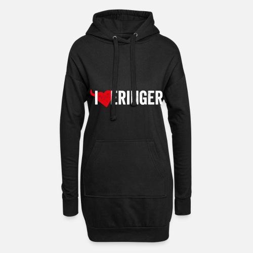 I LOVE ERINGER - Hoodie-Kleid