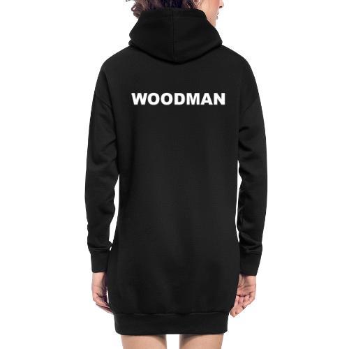 WOODMAN white - Hoodie-Kleid