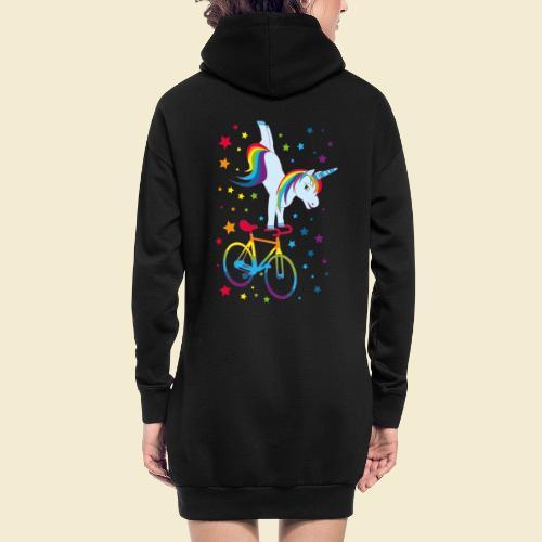 Kunstrad   Einhorn Handstand Regenbogen - Hoodie-Kleid
