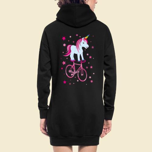 Kunstrad   Einhorn Pink - Hoodie-Kleid