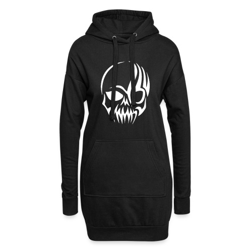 Tribal Skull white mit Logo - Hoodie-Kleid