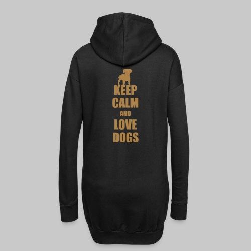 Keep calm love dogs - Hoodie-Kleid