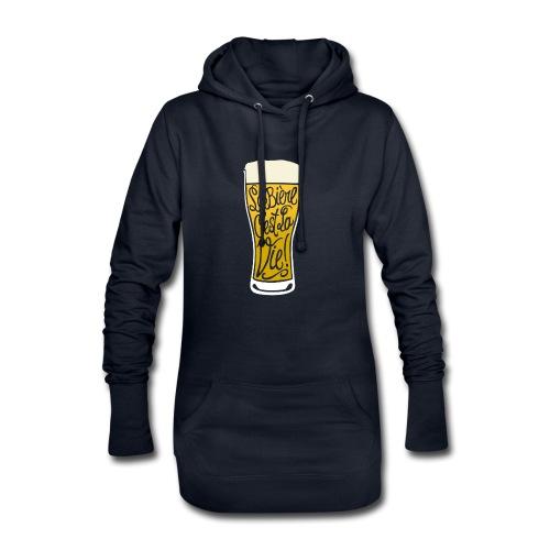 bière, la bière c'est la vie! - Sweat-shirt à capuche long Femme